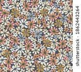 cute small flowers pattern.... | Shutterstock .eps vector #1862443264