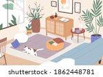 Modern Interior Of Living Room. ...