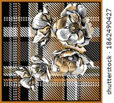 scarf pattern with stylish... | Shutterstock .eps vector #1862490427