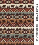 brown tribal vector seamless... | Shutterstock .eps vector #1862515411