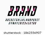 modern style font  alphabet...   Shutterstock .eps vector #1862556907