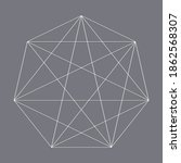 geometric heptagon polygon with ...   Shutterstock .eps vector #1862568307