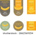 set of vector label with banana ...   Shutterstock .eps vector #1862569354
