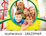 image of joyful friends having...   Shutterstock . vector #186259469