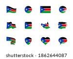 south sudan flag   flat... | Shutterstock .eps vector #1862644087