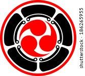mitsu tomoe   japanese triad... | Shutterstock .eps vector #186265955