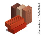 Realistic Vector Red Brick Icon ...