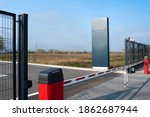 Closed Automatic Gate Of The...