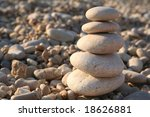 pyramid of water rounded stones ... | Shutterstock . vector #18626881