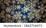 winter snowflakes christmas... | Shutterstock . vector #1862716471