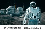 An Astronaut Approaches His...