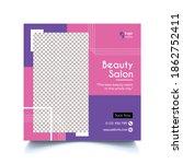 beauty spa salon banner ... | Shutterstock .eps vector #1862752411