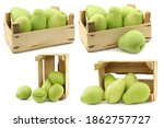 Chayote Fruits  Sechium Edulis  ...