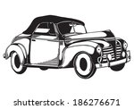 vector retro car   Shutterstock .eps vector #186276671