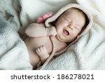 cute little funny sleeping baby ... | Shutterstock . vector #186278021
