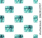 christmas presents seamless... | Shutterstock .eps vector #1862812957