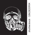covid 19 pandemic  human skull...   Shutterstock .eps vector #1862820904