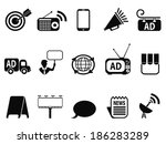 advertisement icons set | Shutterstock .eps vector #186283289