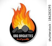 Charcoal Briquettes Icon...
