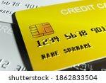 closeup credit card payment...   Shutterstock . vector #1862833504