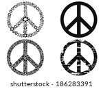 black peace symbol | Shutterstock .eps vector #186283391