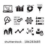 data analytic icon set     bw | Shutterstock .eps vector #186283685