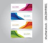 abstract wave design banner web ... | Shutterstock .eps vector #1862849881