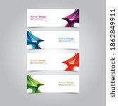 abstract wave design banner web ... | Shutterstock .eps vector #1862849911