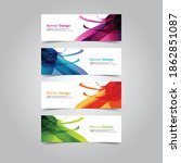 abstract wave design banner web ... | Shutterstock .eps vector #1862851087
