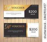 gift voucher template with... | Shutterstock .eps vector #1862901457