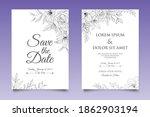 hand drawing wedding invitation ... | Shutterstock .eps vector #1862903194