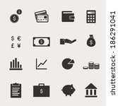 finance icon set | Shutterstock .eps vector #186291041