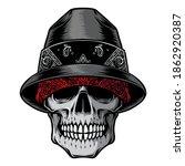 skull gangster head vector logo | Shutterstock .eps vector #1862920387