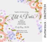 wedding invitation | Shutterstock .eps vector #186295154