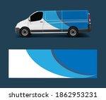 cargo van wrap vector  graphic... | Shutterstock .eps vector #1862953231