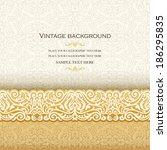 vintage background  antique... | Shutterstock .eps vector #186295835