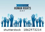 human rights day poster with... | Shutterstock .eps vector #1862973214
