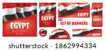 vector set of banners with the... | Shutterstock .eps vector #1862994334