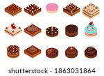 holiday isometric 3d icon of... | Shutterstock .eps vector #1863031864
