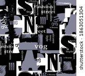 trendy fashion print beauty... | Shutterstock .eps vector #1863051304