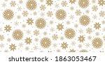 golden snowflakes on a white... | Shutterstock .eps vector #1863053467