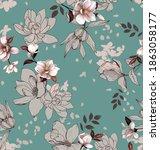elegant floral pattern.... | Shutterstock . vector #1863058177