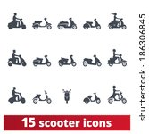 scooter icons  vector set of... | Shutterstock .eps vector #186306845