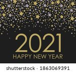 2021 happy new year. minimalist ... | Shutterstock . vector #1863069391
