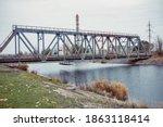 Railway Bridge Over The Pripyat ...