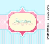vector invitation card | Shutterstock .eps vector #186312041