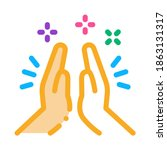 hand clapping icon vector.... | Shutterstock .eps vector #1863131317