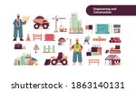 set engineering tools icons... | Shutterstock .eps vector #1863140131