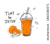 smoothies or detox cocktail day ... | Shutterstock .eps vector #1863186571