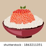 traditional japanese food for...   Shutterstock .eps vector #1863211351